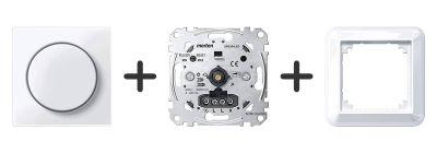 Universele LED Draaidimmer Compleet - Actief Wit - Merten Atelier M