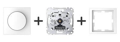 Universele LED Draaidimmer Compleet - Lotuswit - Merten D-Life