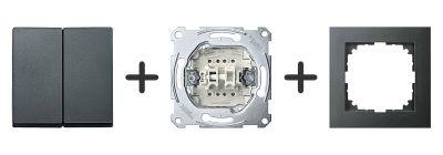 Serieschakelaar Compleet - Antraciet - Merten M-Pure