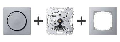 Universele LED Draaidimmer Compleet - Aluminium - Merten M-Pure