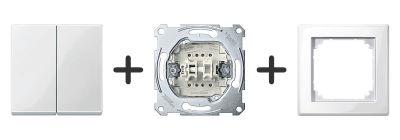 Serieschakelaar Compleet - Polarwit - Merten M-Smart