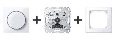 Universele LED Draaidimmer Compleet - Actief Wit - Merten M-Smart