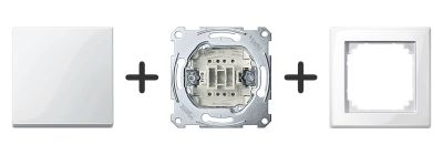 Wisselschakelaar Compleet - Polarwit - Merten M-Smart