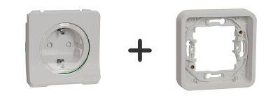 Stopcontact Inbouw Compleet - Polarwit - Mureva Styl