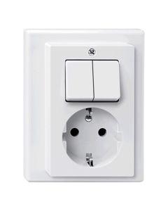 Stopcontact + Serieschakelaar Compleet - Polarwit - M-Smart