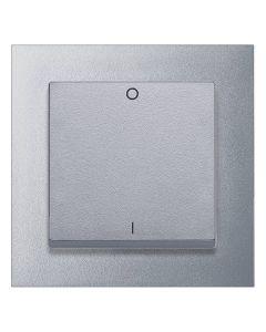 Tweepolige Schakelaar Compleet - Aluminium - Merten M-Pure