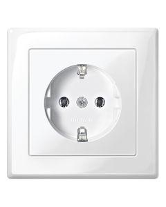 Stopcontact Compleet 1-voudig - Kinderbeveiliging - Polarwit - M-Smart