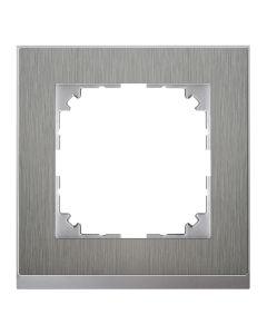 Afdekraam M-Pure Decor 1-voudig - Metaal Aluminium - Systeem M