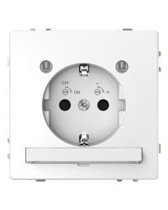 Wandcontactdoos Randaarde - Kinderbeveiliging - Verlichting - Kunststof - Lotuswit - Systeem Design