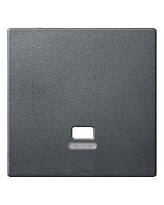 Inzetstuk Trekschakelaar Controlevenster - Antraciet - Systeem M