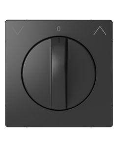 Draaiknop Jaloezieschakelaar - Kunststof - Antraciet - Systeem Design
