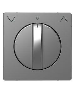 Draaiknop Jaloezieschakelaar - Kunststof - RVS Look - Systeem Design