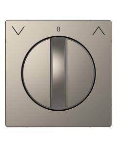 Draaiknop Jaloezieschakelaar - Metaal - Nikkel Metallic - Systeem Design