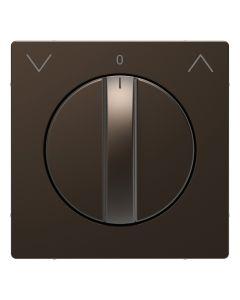 Draaiknop Jaloezieschakelaar - Metaal - Mocca Metallic - Systeem Design