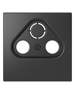 Inzetstuk CAI 2-voudig - Kunststof - Antraciet - Systeem Design