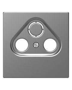Inzetstuk CAI 2-voudig - Kunststof - RVS Look - Systeem Design