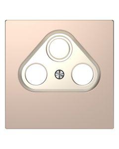 Inzetstuk CAI 2-voudig - Metaal - Champagne Metallic - Systeem Design