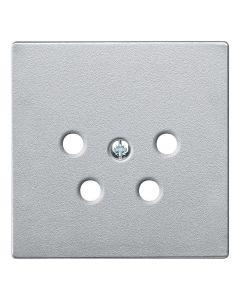 Inzetstuk Telefoonaansluiting - Aluminium - Systeem M
