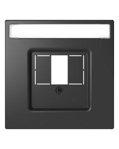 Inzetstuk HDMI - Kunststof - Antraciet - Systeem Design