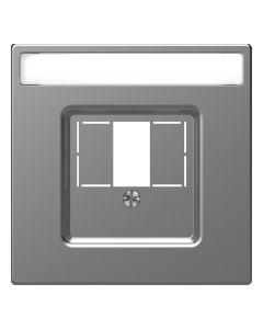 Inzetstuk HDMI - Kunststof - RVS Look - Systeem Design