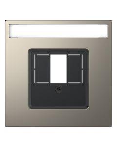 Inzetstuk HDMI - Metaal - Nikkel Metallic - Systeem Design