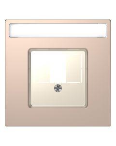 Inzetstuk HDMI - Metaal - Champagne Metallic - Systeem Design