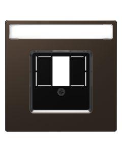 Inzetstuk HDMI - Metaal - Mocca Metallic - Systeem Design