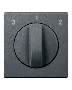 Draaiknop Ventilatieschakelaar - Antraciet - Systeem M