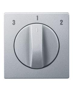 Draaiknop Ventilatieschakelaar - Aluminium - Systeem M