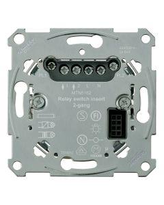 Sokkel - Elektronische Schakelaar 3-draads 2-voudig - Merten
