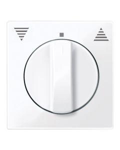 Draaiknop Jaloezieschakelaar - Actief Wit - Systeem M