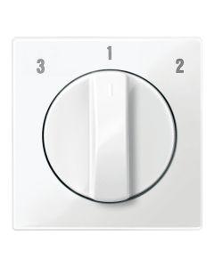 Draaiknop Ventilatieschakelaar - Polarwit - Systeem M
