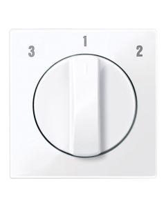 Draaiknop Ventilatieschakelaar - Actief Wit - Systeem M