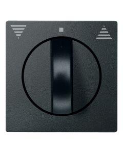 Draaiknop Jaloezieschakelaar - Antraciet - Systeem M