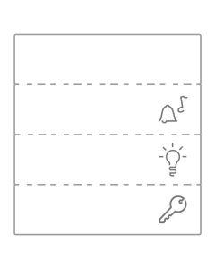 Labelsheet Bel Lamp Sleutel - 10 stuks - Modulair - Mureva Styl