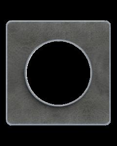 Afdekraam Odace Touch 1-voudig - Leisteen/Aluminium