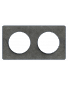 Afdekraam Odace Touch 2-voudig - Leisteen/Aluminium