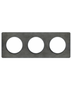 Afdekraam Odace Touch 3-voudig - Leisteen/Aluminium