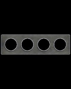Afdekraam Odace Touch 4-voudig - Leisteen/Aluminium