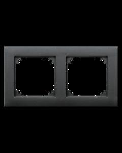 Afdekraam M-Smart 2-voudig - Kunststof Antraciet - Systeem M
