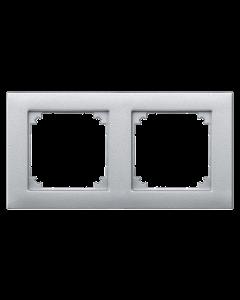 Afdekraam M-Smart 2-voudig - Kunststof Aluminium - Systeem M