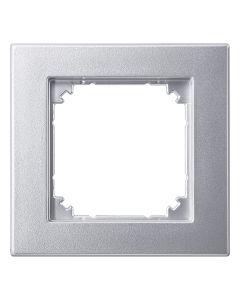 Afdekraam M-Smart 1-voudig - Kunststof Aluminium - Systeem M