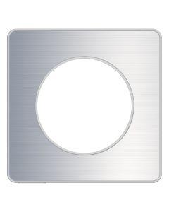 Afdekraam Odace Touch 1-voudig - Geborsteld Aluminium