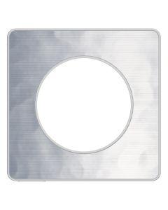 Afdekraam Odace Touch 1-voudig - Gehamerd Aluminium