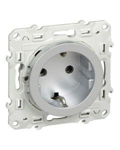 Inzetstuk - Stopcontact 16a - Aluminium - Odace