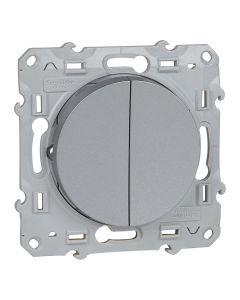 Wissel-/wisselschakelaar - Aluminium - Odace