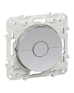 Ventilatieschakelaar - Aluminium - Odace