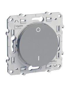 Tweepolige Schakelaar - Aluminium - Odace
