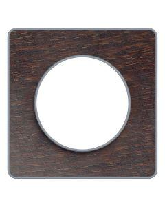 Afdekraam Odace Touch 1-voudig - Wenge/Aluminium
