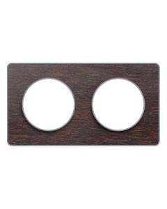 Afdekraam Odace Touch 2-voudig - Wenge/Aluminium